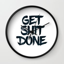 Get Shine Done Wall Clock