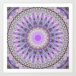 Lovely Lavender Mandala Design Art Print