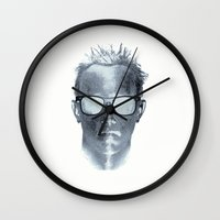 michael scott Wall Clocks featuring Scott by Steve Mac