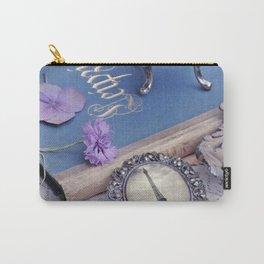 Vintage Blue Paris Carry-All Pouch