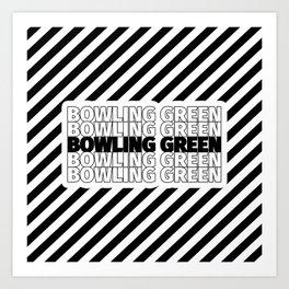 Bowling Green USA CITY Funny Gifts Art Print
