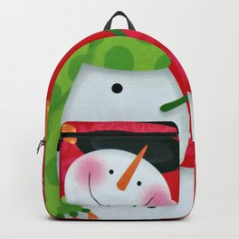 Happy Snowman Backpack