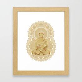 Gold buddha Framed Art Print