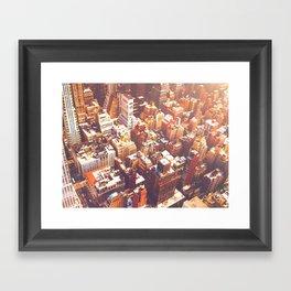 New York City Skyline Summer Framed Art Print