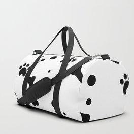 Dog's paw print and bone seamless pattern Duffle Bag