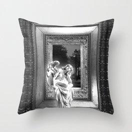 Angel of Bristol (BW) Throw Pillow