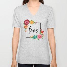 Floral Love II. Unisex V-Neck