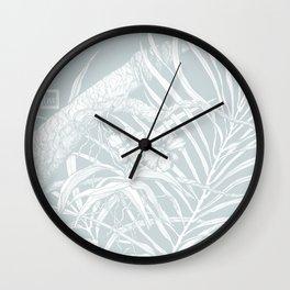 TROPIC ORCHID Bleu Wall Clock