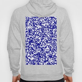 Small Spots - White and Dark Blue Hoody