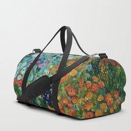 Flower Garden Riot of Colors by Gustav Klimt Duffle Bag