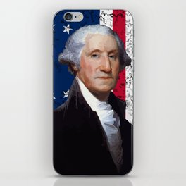 President George Washington and The American Flag iPhone Skin