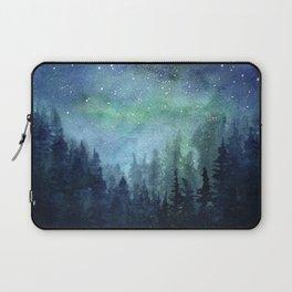 Watercolor Galaxy Nebula Northern Lights Painting Laptop Sleeve