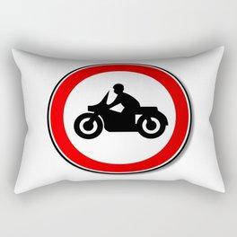 Motorcycle Round Traffic Sign Rectangular Pillow