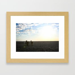 PEACEFUL GOATS Framed Art Print