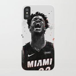 Jimmy Butler Basketball Print Basketball Wall Art Basketball Poster Basketball Wall Decor Poster iPhone Case