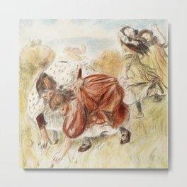 """Pierre-Auguste Renoir """"Enfants jouant à la Ball"""" Metal Print"""