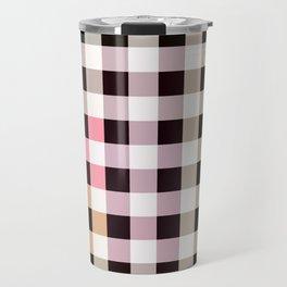 Patchwork Striped Checkerboard Gradient Travel Mug