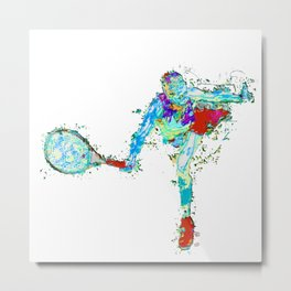 Tennisplayer female Metal Print