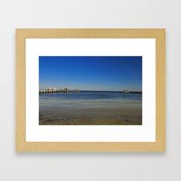 Bokeelia Piers Framed Art Print