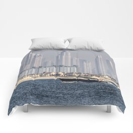 Dubai Yacht And Architecture Comforters