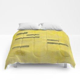 Stasis Gray & Gold 3 Comforters