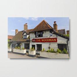 The Woodman Pub Metal Print
