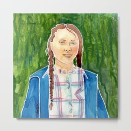 Greta Thunberg Metal Print