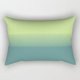 Lime green to dark green gradient boundary spectrum Rectangular Pillow