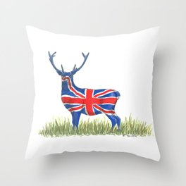 BRITISH Red Deer Throw Pillow