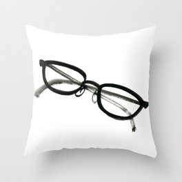 Inky Spectacles Throw Pillow