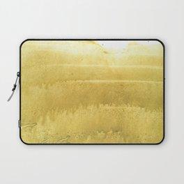 Sunny yellow abstract Laptop Sleeve