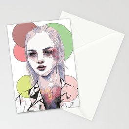 Girls with no name Stationery Cards
