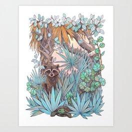 Jungle Coast Dos Art Print