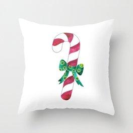 Christmas Season —Candy Canes Throw Pillow