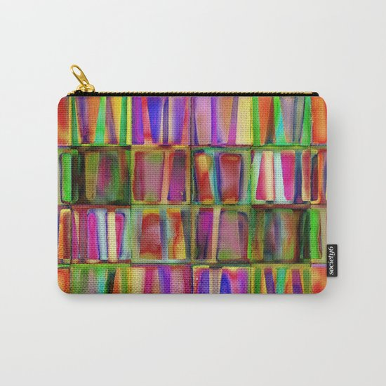 The Colorful World of Books Carry-All Pouch