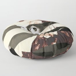 Egon Schiele's Self Portrait & Anthony Perkins Floor Pillow