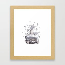 Sauna Shrubs Framed Art Print