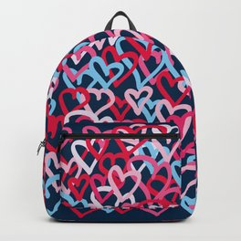 Colorful  Hearts - Graffiti Style Backpack