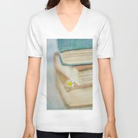 read V-neck T-shirts featuring Read by Debbie Wibowo
