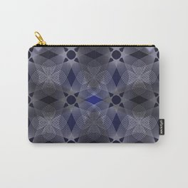 Three Colliding Circles in Black and Blue Carry-All Pouch