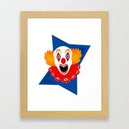 Killer Creepy Clown Framed Art Print