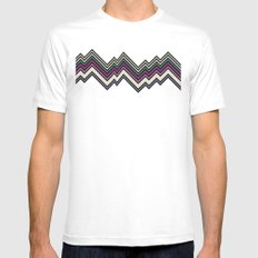 Where The Cool Kids Are White Mens Fitted Tee MEDIUM