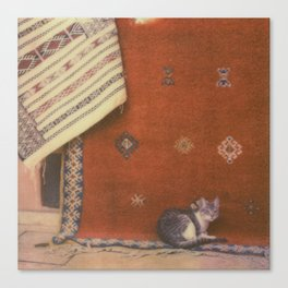 Cat on a Rug Canvas Print