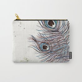 BOHO PEACOCK FEATHER Carry-All Pouch