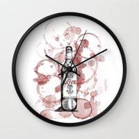 bukowski Wall Clocks featuring Charles Bukowski by MuDesignbyMugeBaris