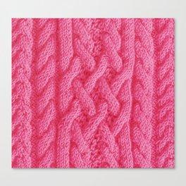 Irish sweater (pink) Canvas Print