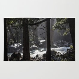 A River Runs Through Yosemite Rug