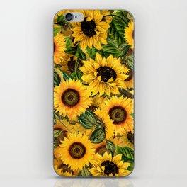 Vintage & Shabby Chic - Noon Sunflowers Garden iPhone Skin