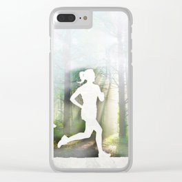 Forest Run Clear iPhone Case