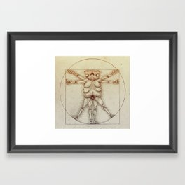 Vitruvian Slob Framed Art Print